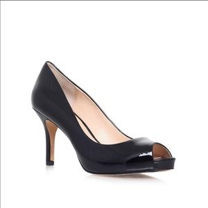Vince Camuto Kiley Open Toe Patent Leather Pumps